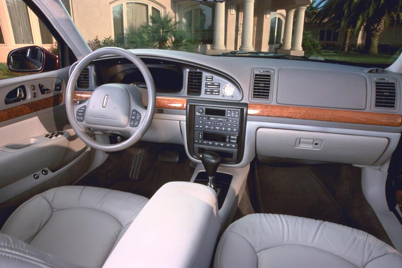 interior of a Lincoln Continental