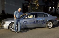 Jay Leno with his BMW Hydrogen 7