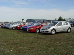 Competitors in the small car category