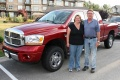 Doug and Cheryl Robertson are very happy with the passenger space offered by their truck's Mega-Cab design.