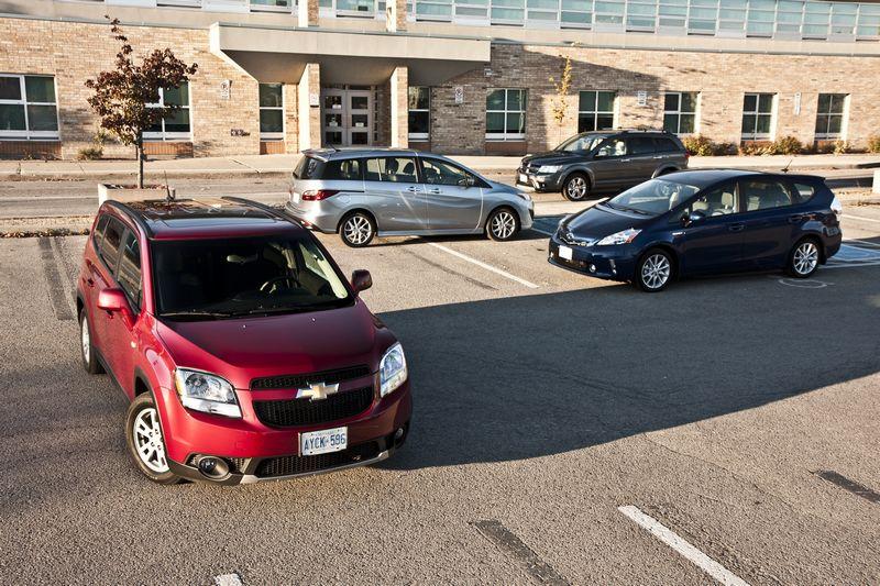 Chevrolet Orlando, Mazda5, Dodge Journey, Toyota Prius V