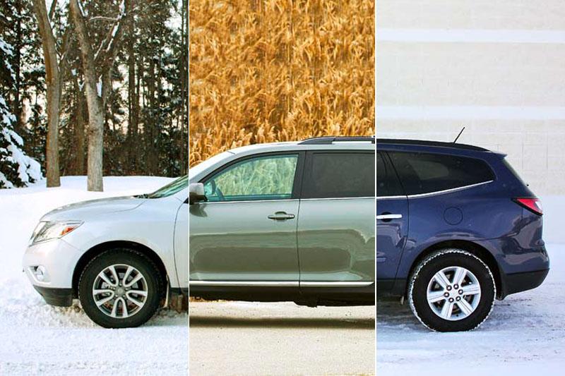 2013 Toyota Highlander, Nissan Pathfinder & Chevrolet Traverse