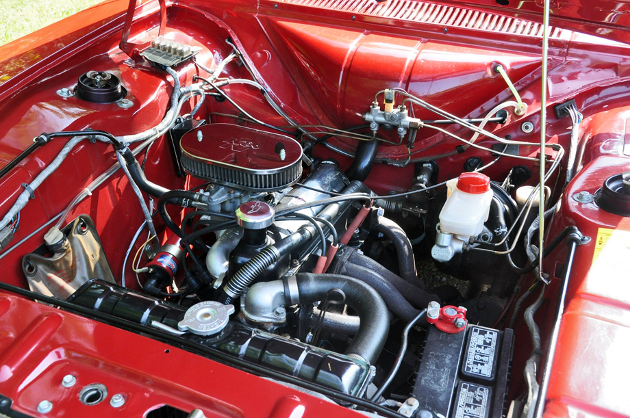 1969 Ford Cortina GT engine bay